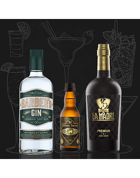 Pack Negroni con Gin Barber's, The Bitter Truth & Vermouth La Madre