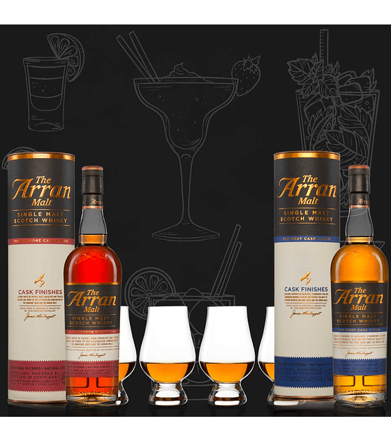 Pack The Arran Malt Cask Finishes & Glencairn Glass