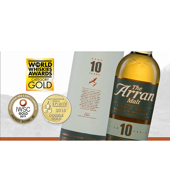 Slántie! Un año de Oro para nuestro Scotch Whisky Arran 10 años
