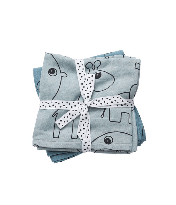 Done by Deer Swaddle de Muselina Azul 2/U