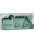 Done by Deer Plato Snack Succión natural Croco Verde