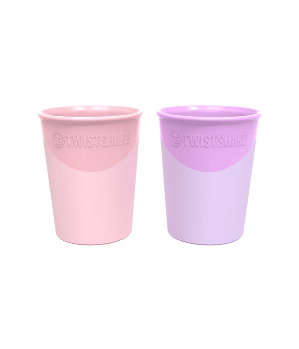 Twistshake Set 2 Vasos Rosado/Morado 170 ml