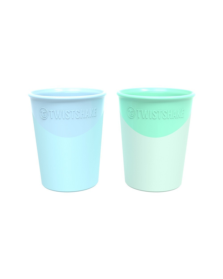 Twistshake Set 2 Vasos Azul/verde 170 ml