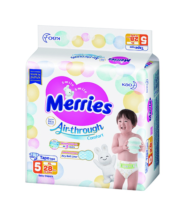 Merries Pañal XL 12-20 Kg 28/U Jumbo Pack