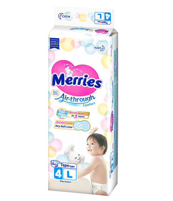 Merries Pañal L 9-14 Kg 36/U Jumbo Pack