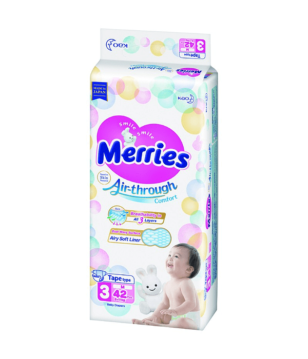 Merries Pañal M 6-11 Kg 42/U Jumbo Pack
