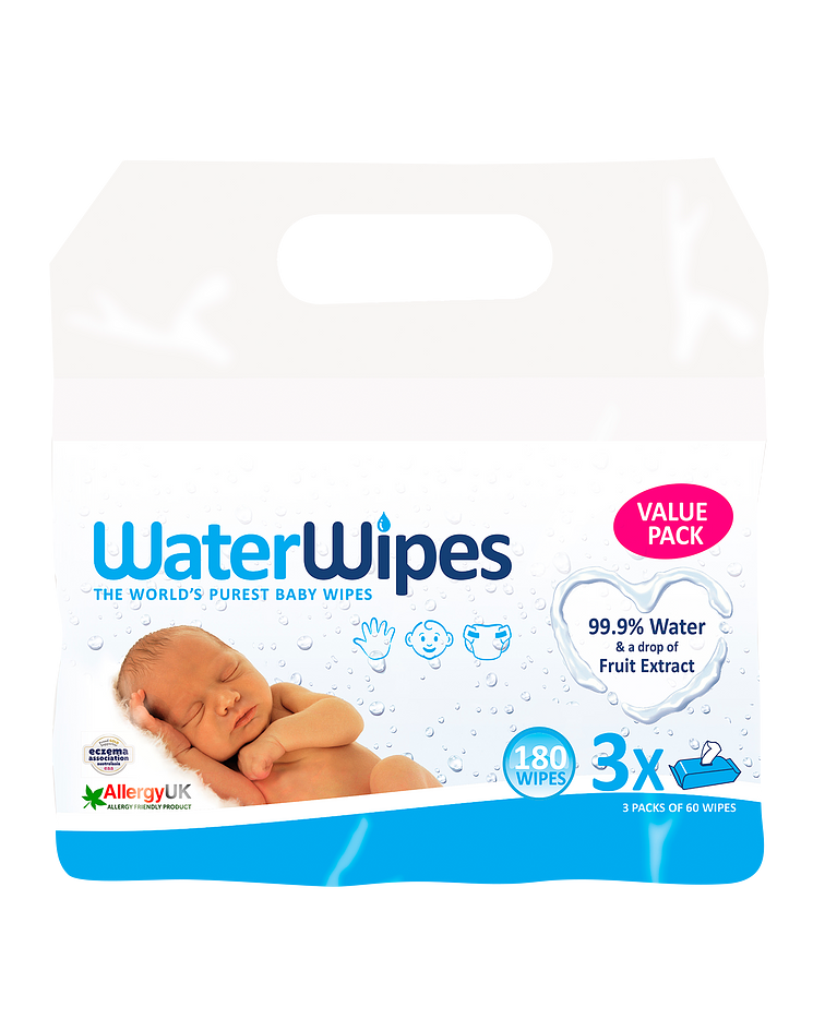 Toallitas Water Wipes 60 unidades x 3 (pack)
