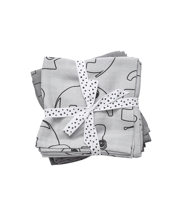 Done by Deer Swaddle de Muselina Gris 2/U