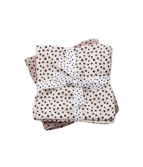 Done by Deer Swaddle de Muselina Lunares Happy Dots Rosa 2 /U