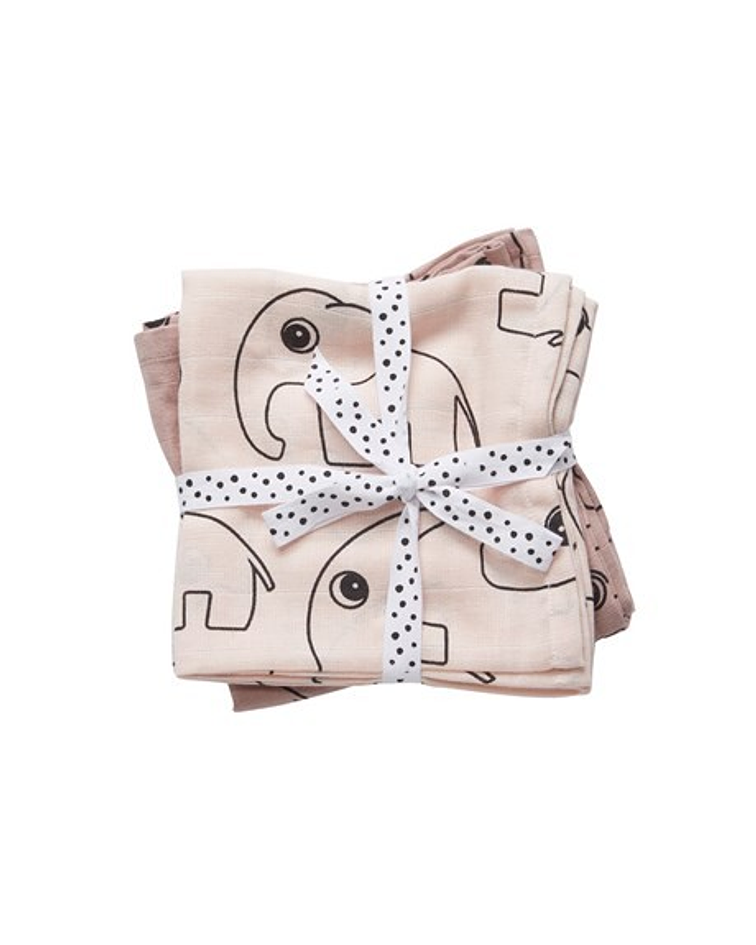 Done by Deer Swaddle de Muselina Rosa 2/U