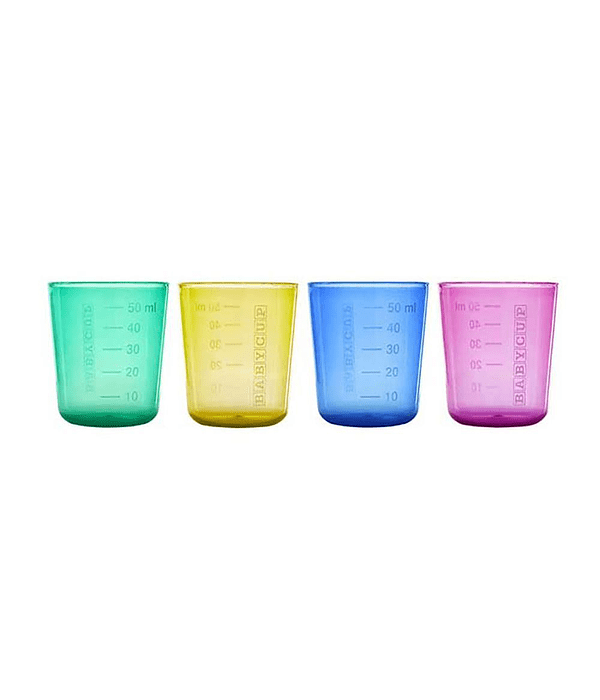 Babycup Mini Vaso Abierto Multicolor 50 ml