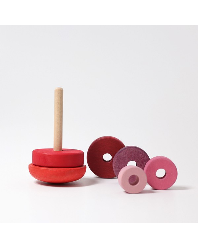 Grimm's Spiel und Holz Juego Apilable Wobbly Rosa