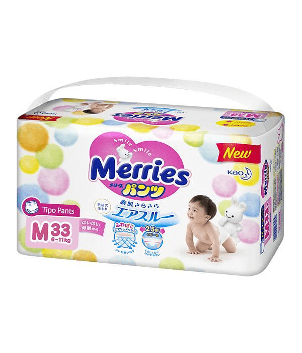 Merries Pants Aprendizaje M 6-11 kg 33/U Jumbo Pack
