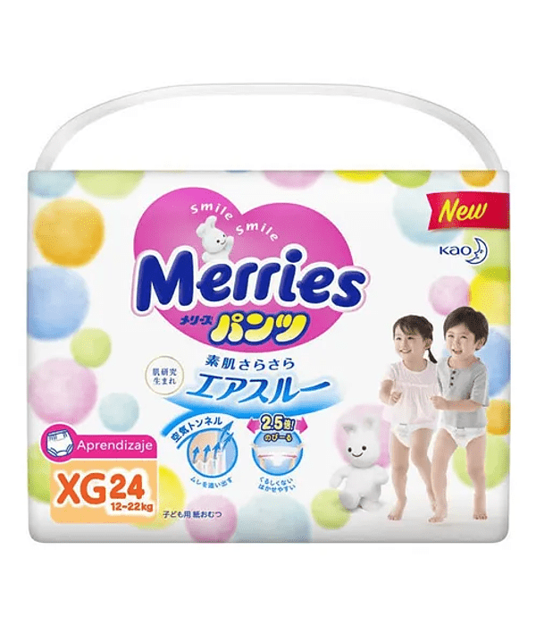 Merries Pants Aprendizaje XL 12-22 kg 24/U Jumbo Pack