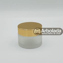 Envase vidrio 50ml Dorado empavonado