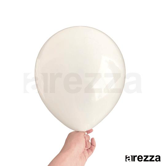 Globo Blanco Pastel 10