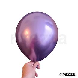"Globo Morado Cromado 12"""