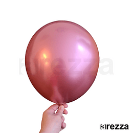 """Globo Rosa Cromado 12"""""""