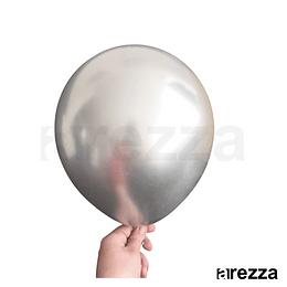 """Globo Plata Cromado 12"""""""
