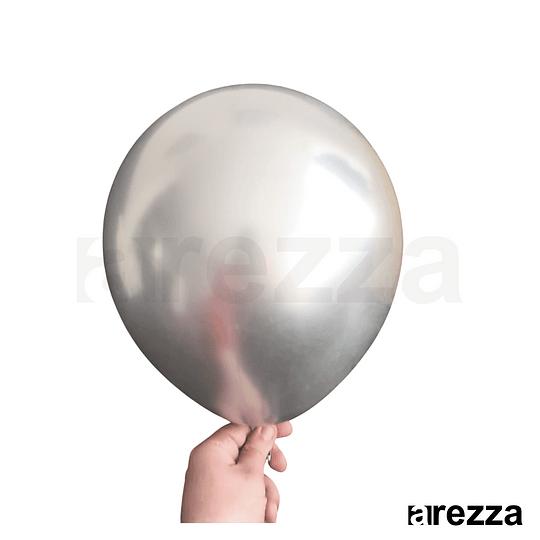 Globo Plata Cromado 12