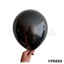 """Globo Negro Brillante Liso 12"""""""