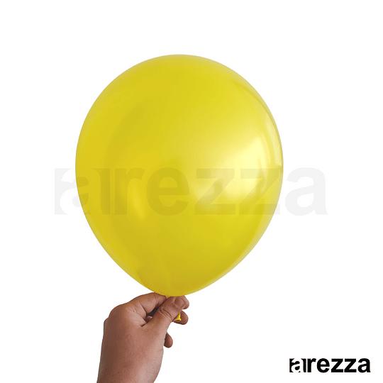 Globo Amarillo Metalizado 12