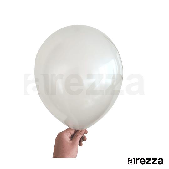 Globo Gris Metalizado 12