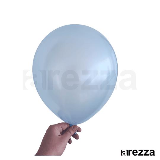 Globo Azul Metalizado 12