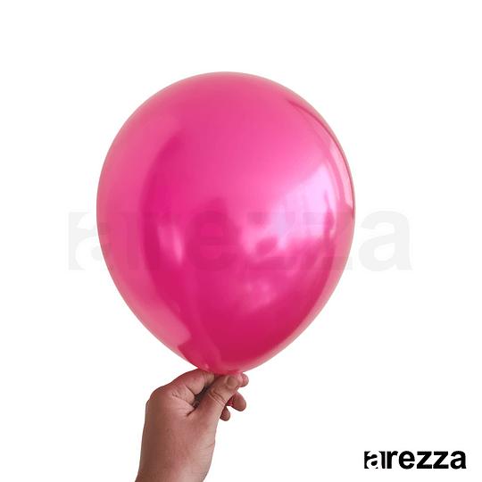 Globo Fucsia Metalizado 12