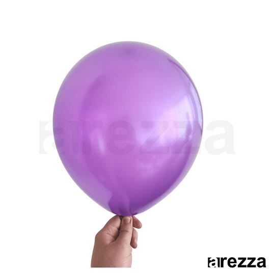Globo Morado Metalizado 12