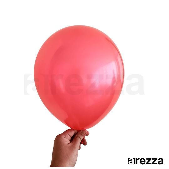 Globo Rojo Metalizado 12