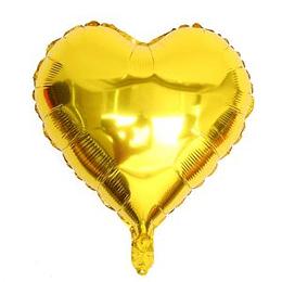 """Corazón Foil Dorado 10"""""""