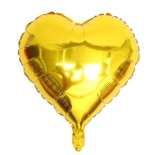 Corazón Foil Dorado 10