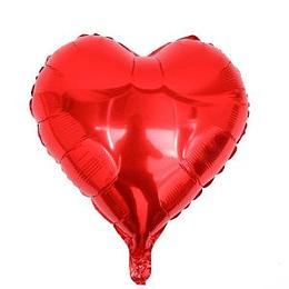 "Corazón Foil Rojo 10"""