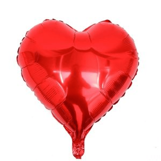 Corazón Foil Rojo 10