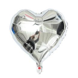 """Corazón Foil Plata 10"""""""