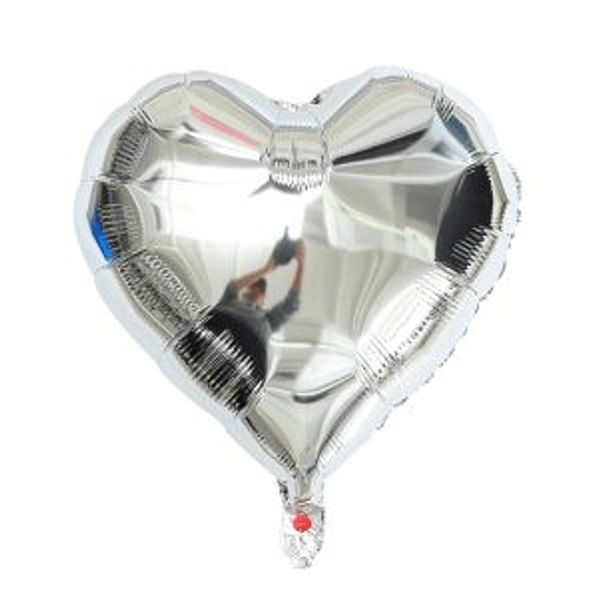 Corazón Foil Plata 10