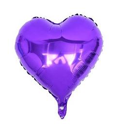 """Corazón Foil Morado 10"""""""