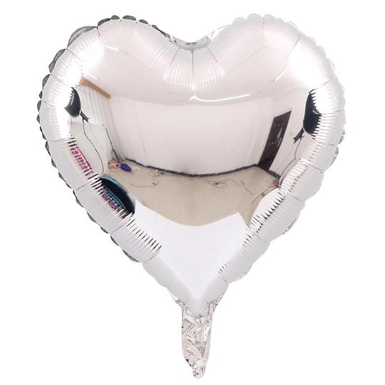 Corazón Foil Plata 18