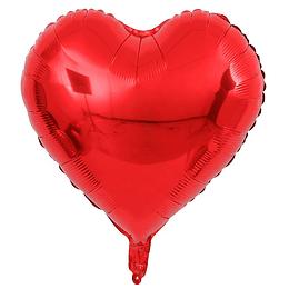 "Corazón Foil Rojo 18"""