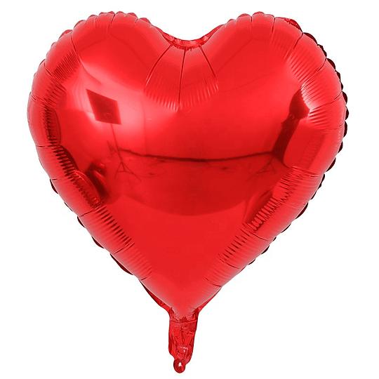 Corazón Foil Rojo 18