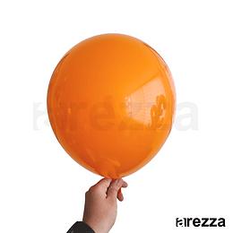 """Globo Naranja Liso 12"""""""