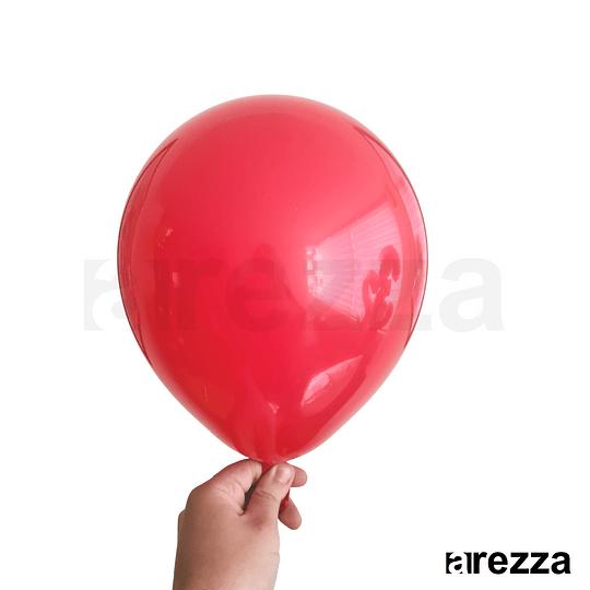 Globo Rojo Liso 10