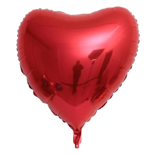 Corazón Foil Rojo 32