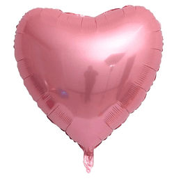 "Corazón Foil Rosa 32"""
