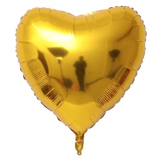 Corazón Foil Dorado 32