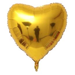 """Corazón Foil Dorado 32"""""""