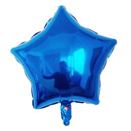 """Estrella Foil Azul 18"""""""