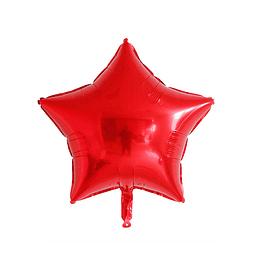 """Estrella Foil Rojo 10"""""""
