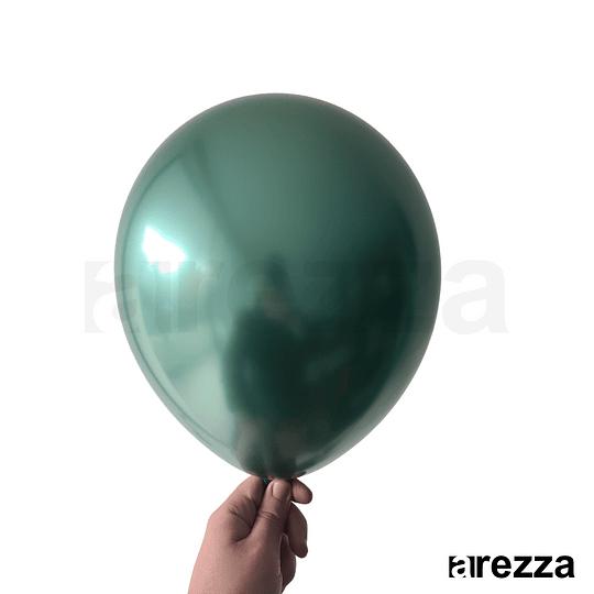 Globo Verde Dark Cromado 12